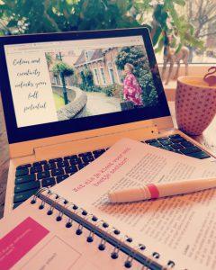 roze laptop Bloei!
